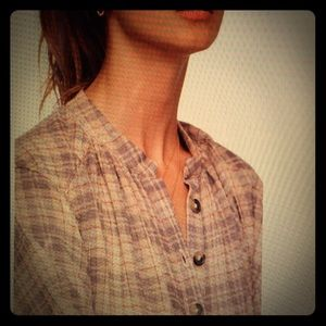 Free People Northern Bound Plaid Shirt New Small